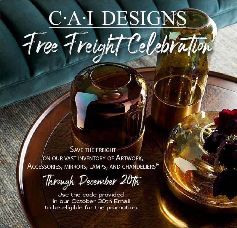 CAI Designs Free Freight Celebration through 12.2019