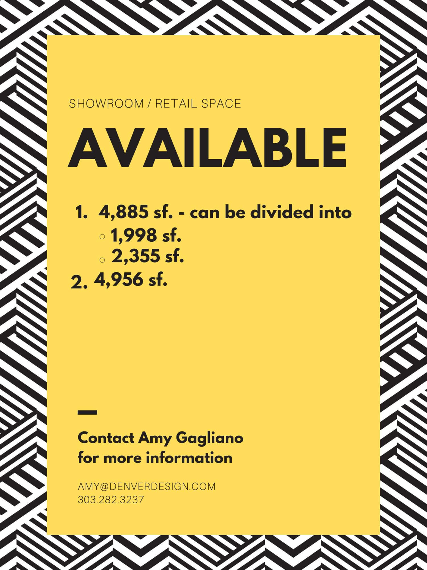 Showroom space available