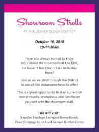 Showroom Strolls October 10 2018 thumbnail